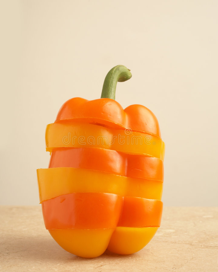 Free Slices Of Yellow And Orange Peppers Stock Photos - 4805113