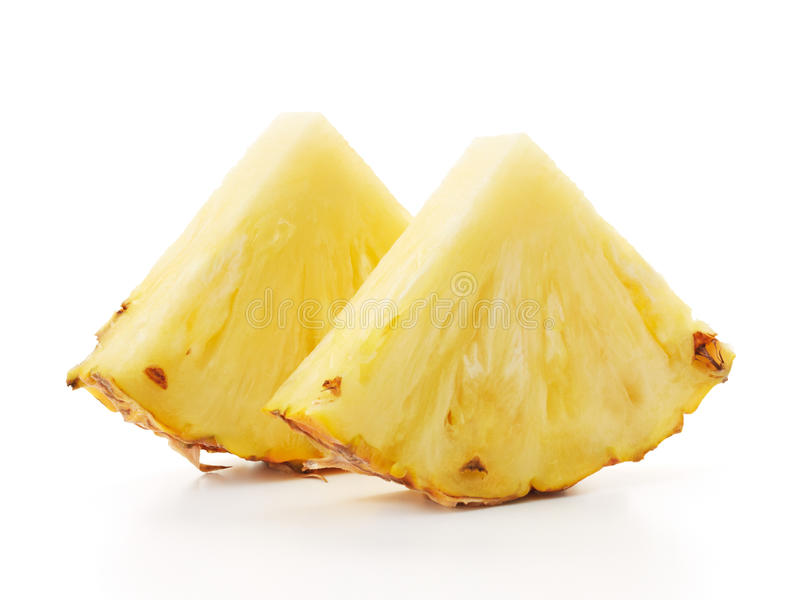 Slices of pineapple stock image