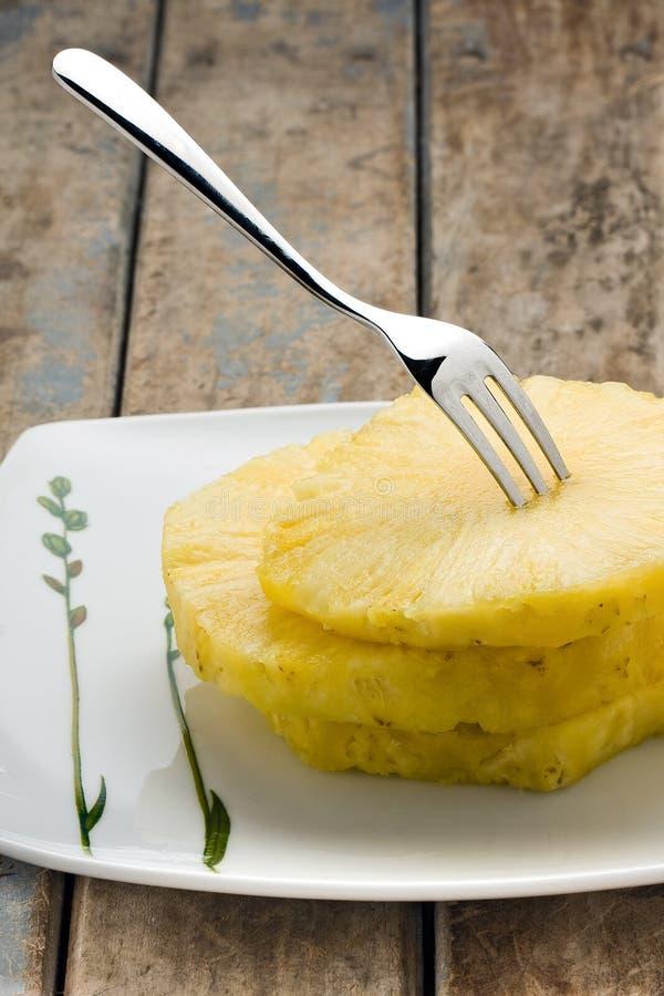 Slices of Pineapple stock photos