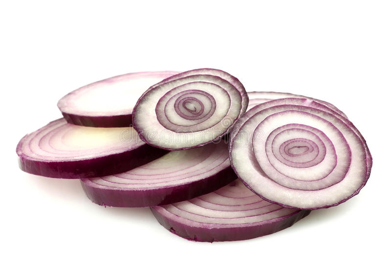 Slices Of Red Onion Stock Image