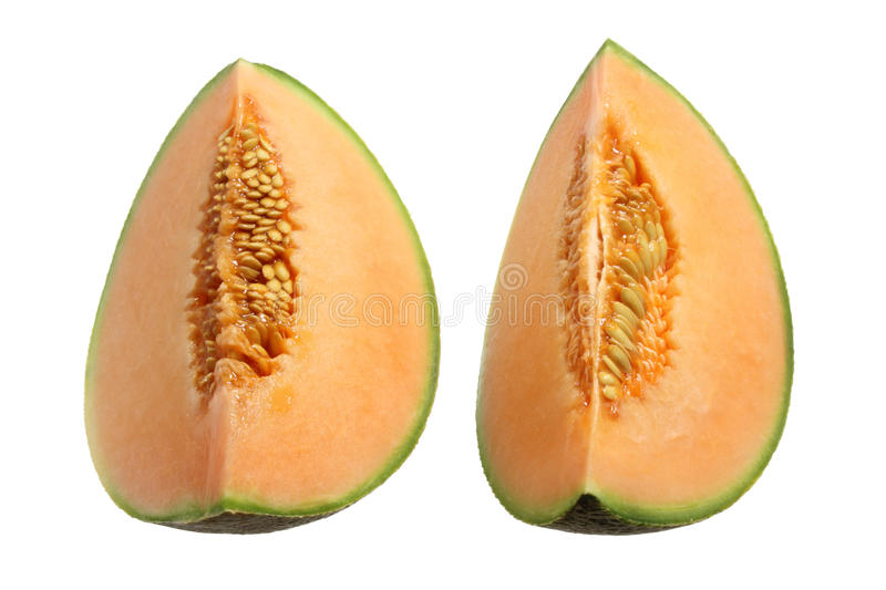 Slices of Rock Melon royalty free stock photography