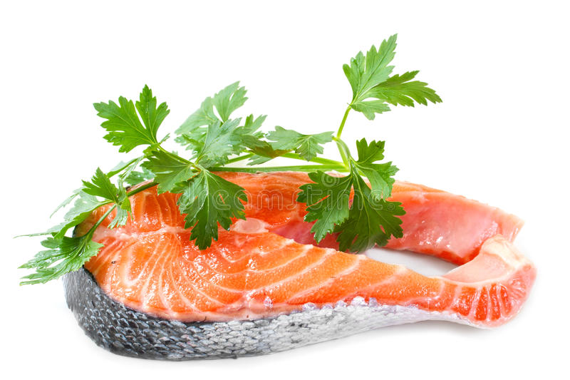 Slices of salmon stock images