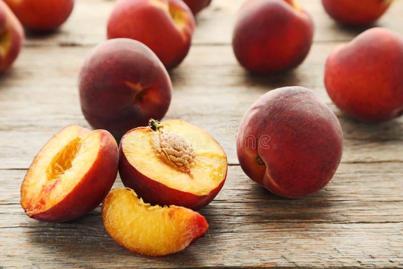 Sweet nectarines fruit royalty free stock photography
