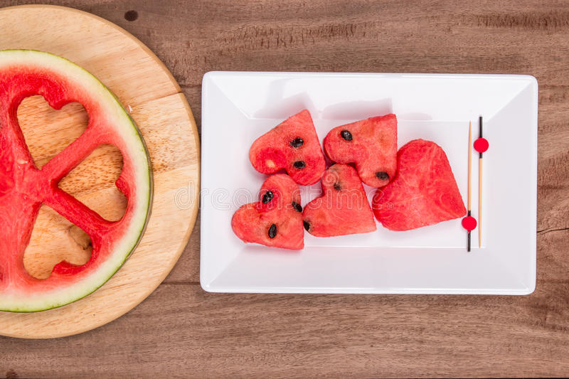Slices of watermelon royalty free stock photo