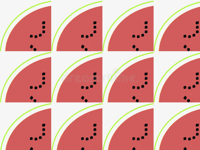 Download Slices Of Watermelon Pattern Stock Illustration - Image: 58001903