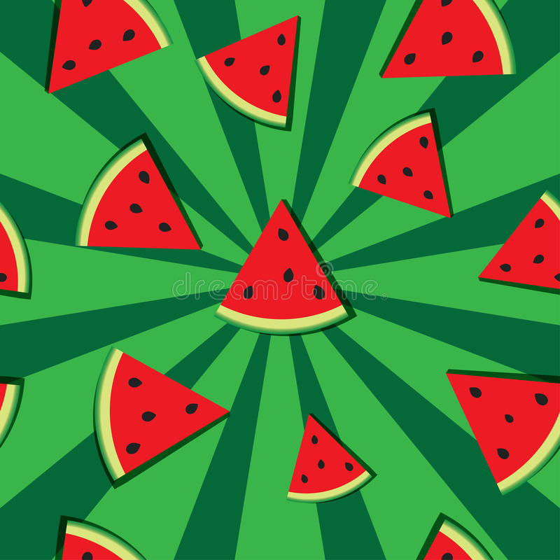 Slices of watermelon royalty free illustration
