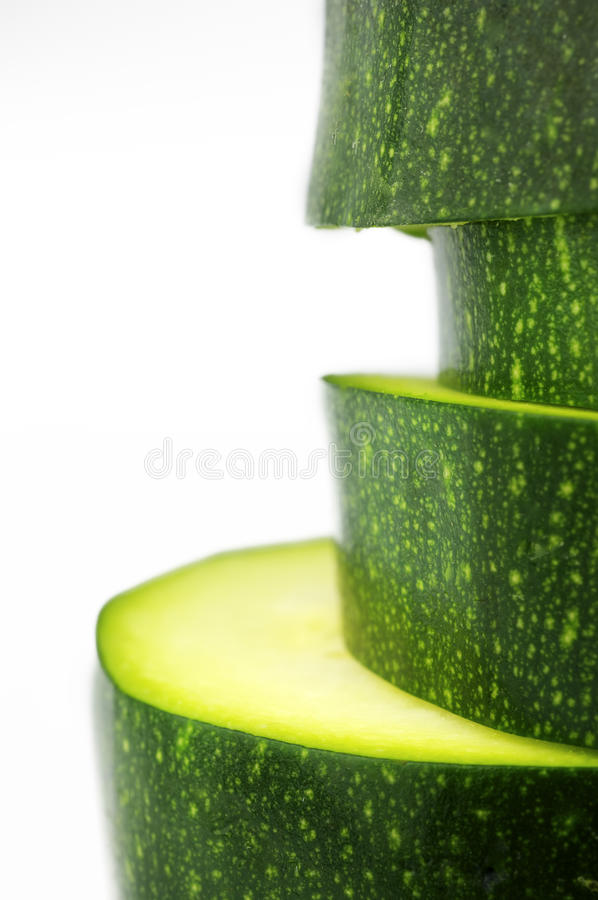 Slices of zucchini royalty free stock image