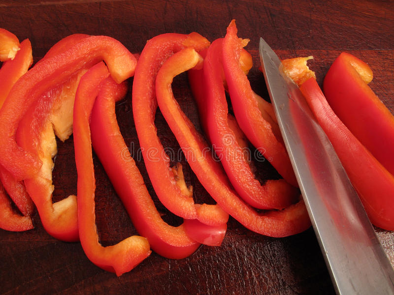 Download Slicing a Bell Pepper stock image. Image of cutting, pepper - 9659755