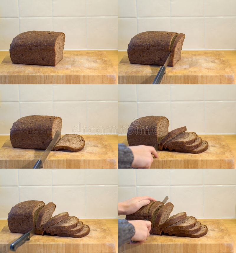 Download Slicing Bread Sequence stock image. Image of meat, compilation - 7081517