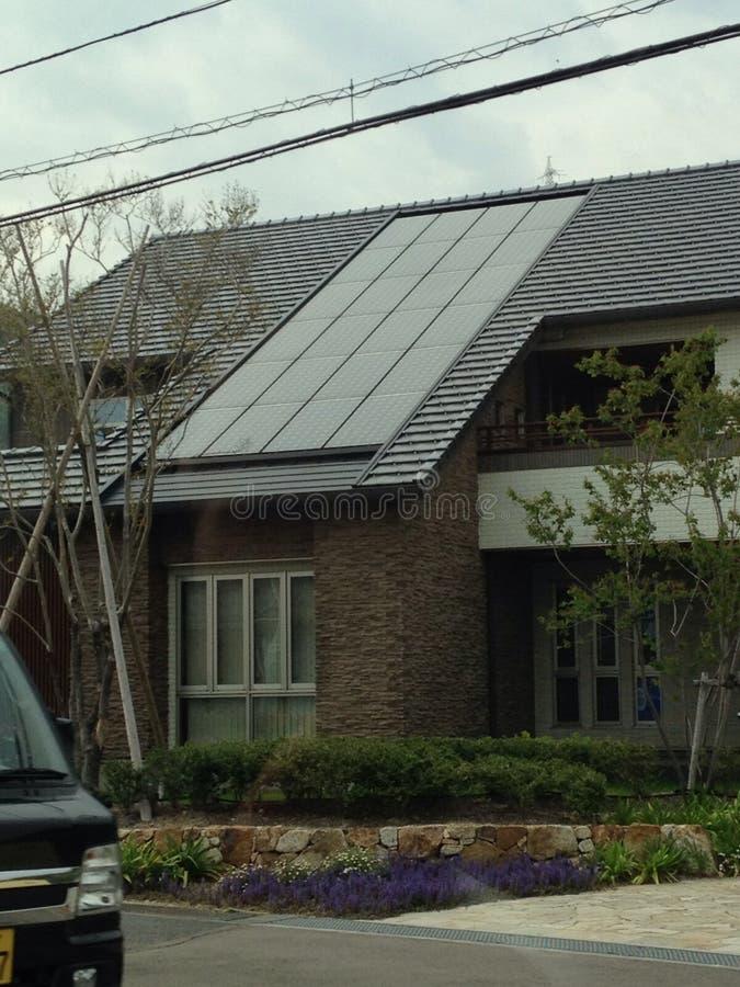 Slick Japanese solar house royalty free stock images