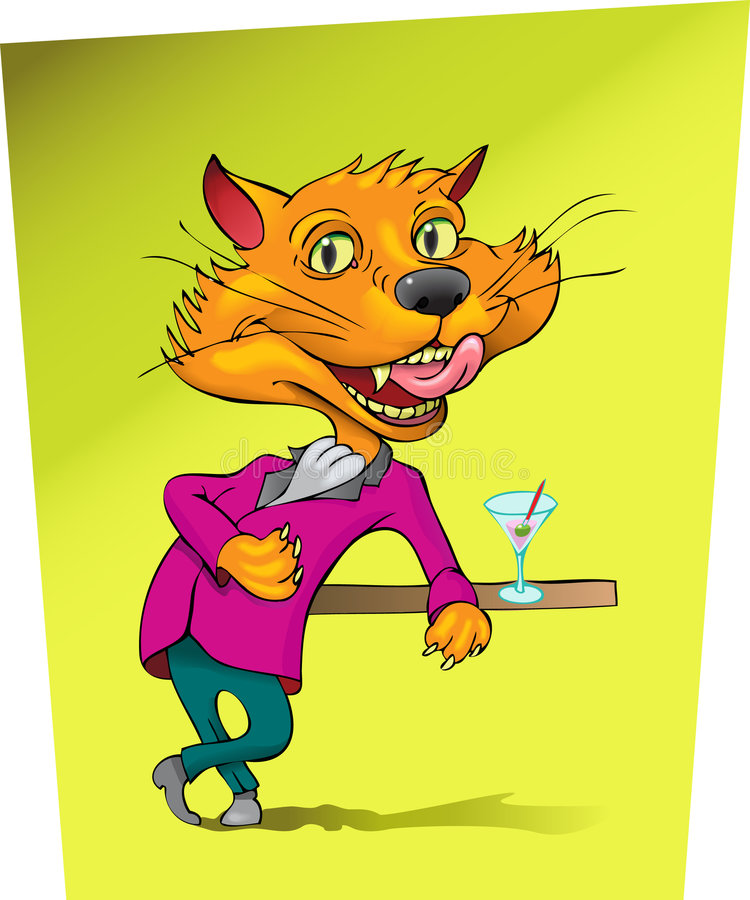 Download Slick Kitty stock vector. Image of opportunity, coat, waiting - 3546347