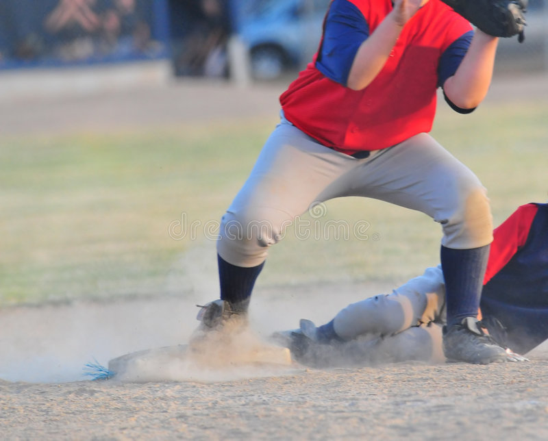 Download Slide into 3rd base stock image. Image of active, players - 5651079