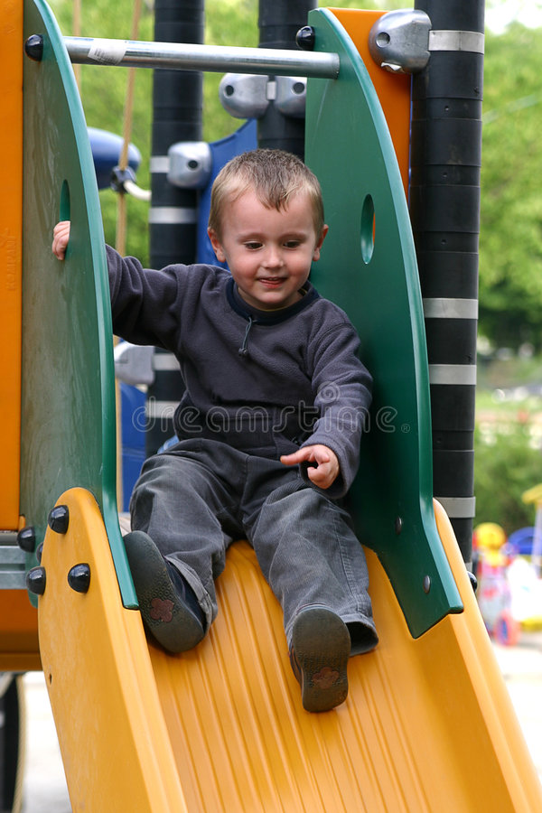 On the slide royalty free stock images