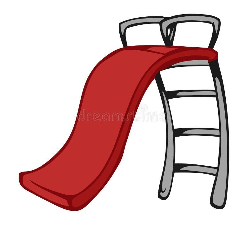 Slide. Cartoon illustration of a slide stock illustration