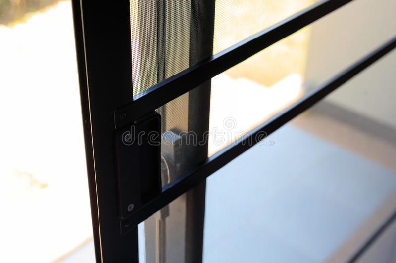 Slide door mosquito wire screen steel net protection. From small insect bug stock photos