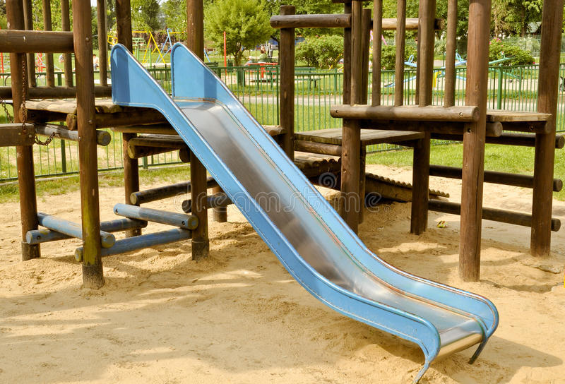 Download Slide On The Playground Stock Image - Image: 19646331