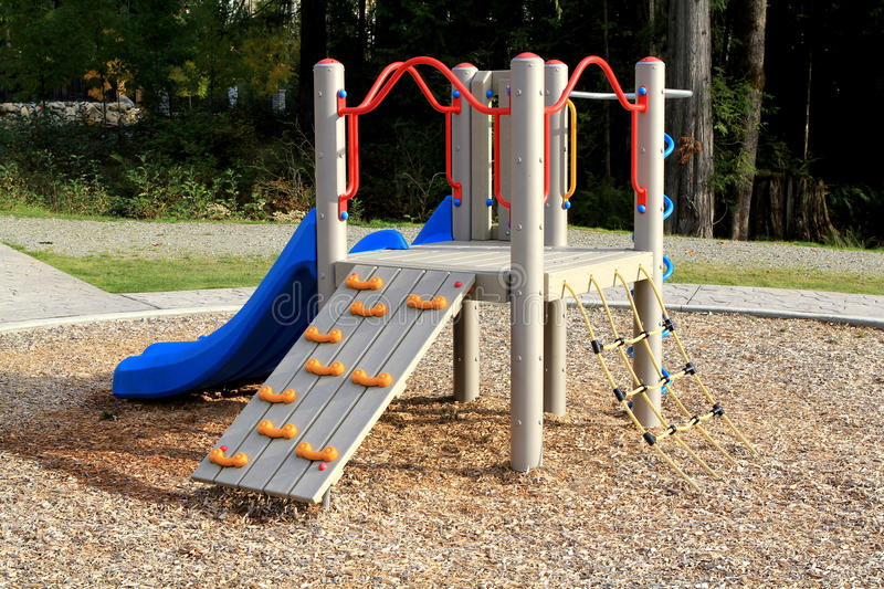 Download Slide At Playground In A Calm Residential Area Royalty Free Stock Image - Image: 23449036