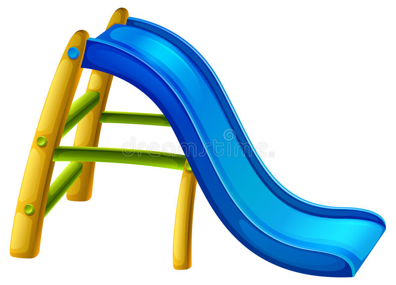 A slide at the playground. Illustration of a slide at the playground on a white background royalty free illustration