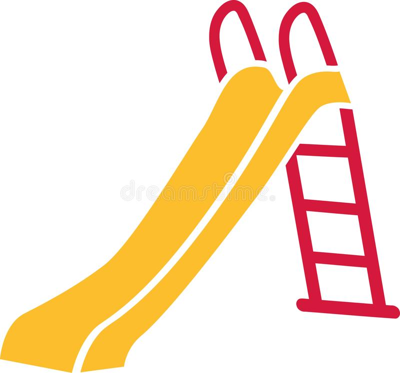 Slide playground vector. Slide playground children outdoor vector stock illustration