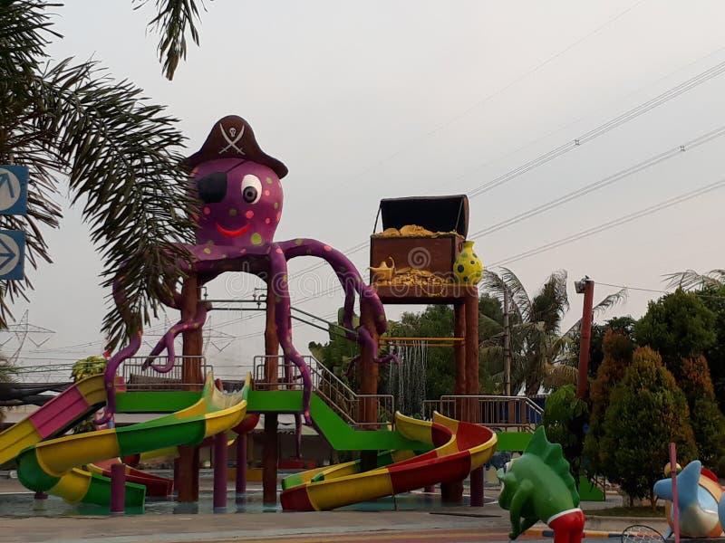 Slide pool. Area pesona water park indonesia royalty free stock photos