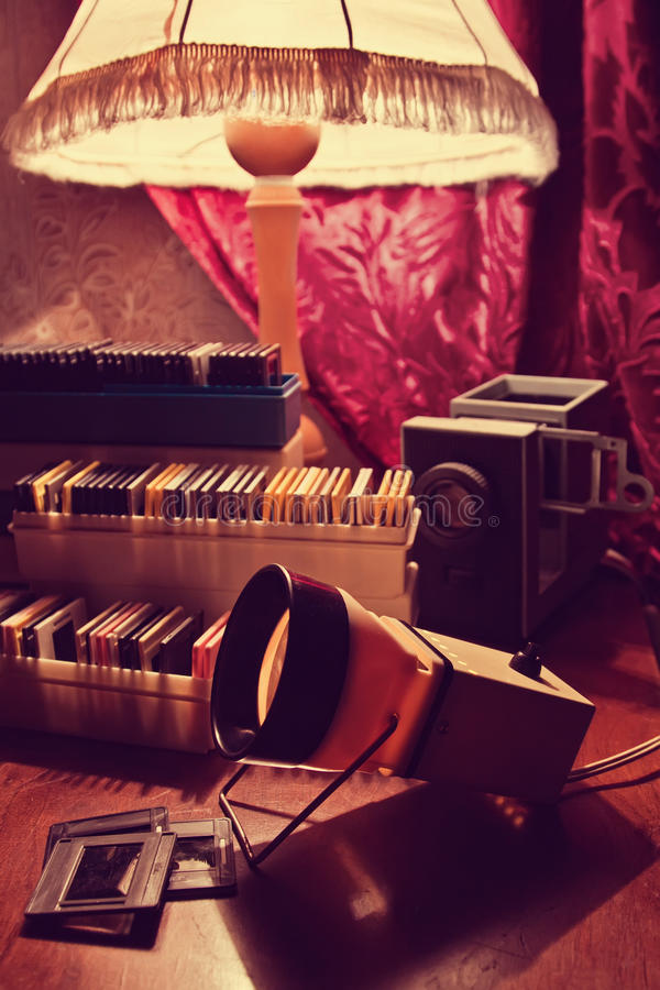 Free Slide Projector And Slides Stock Photography - 31435892