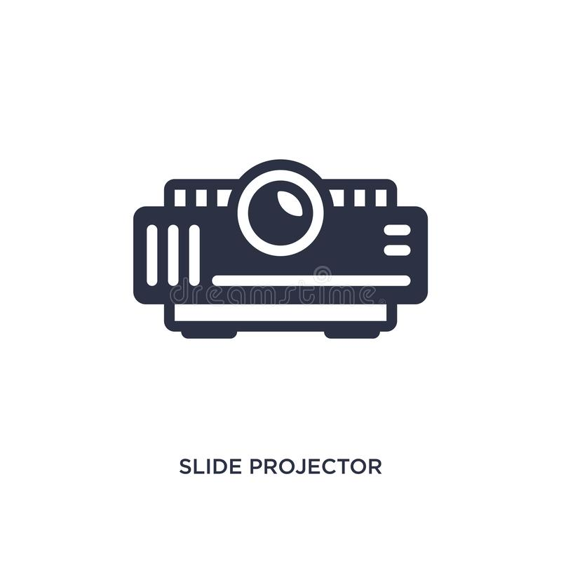 slide projector icon on white background. Simple element illustration from cinema concept stock illustration