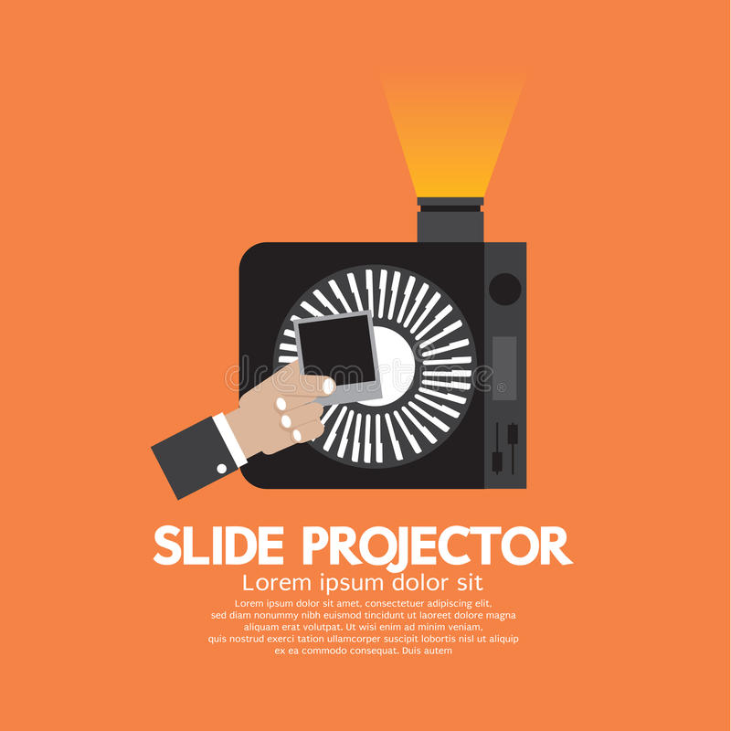 Slide Projector An Opto-Mechanical Device To Show Photographic Slides stock illustration