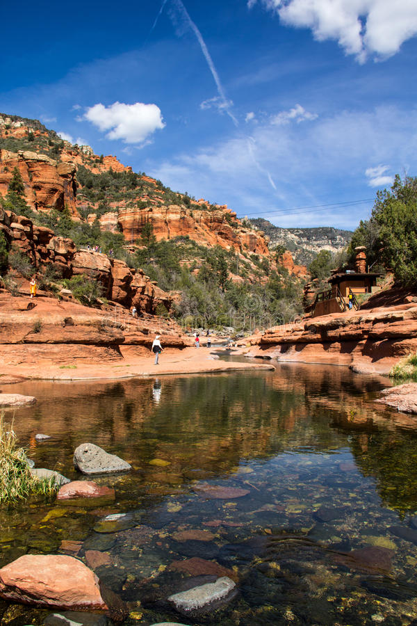 Slide Rock State Park royalty free stock photos