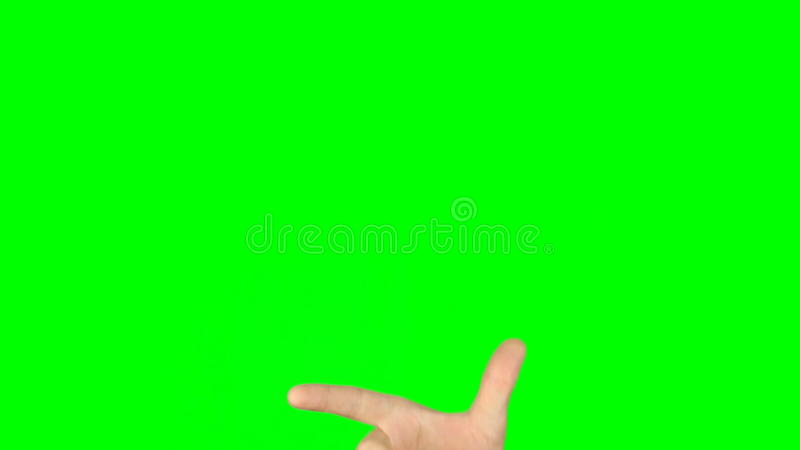 slide rotate pinch zoom finger gestures front view hand on green screen stock footage video