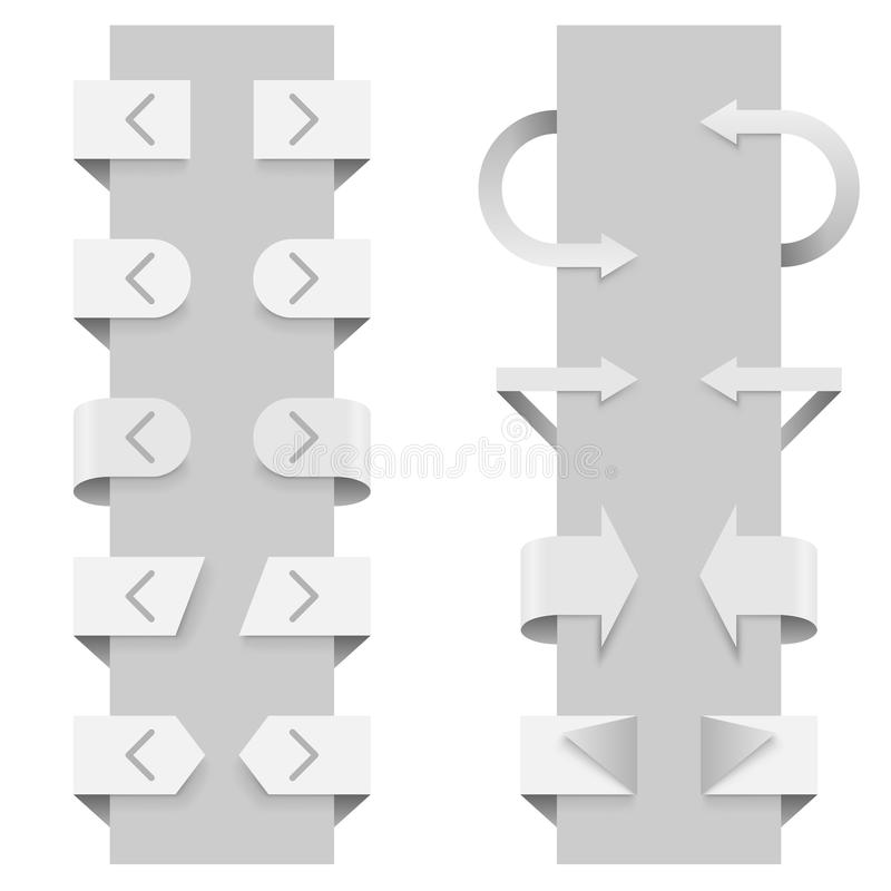 Slider arrow template. Arrows vector template for slider web elements vector illustration