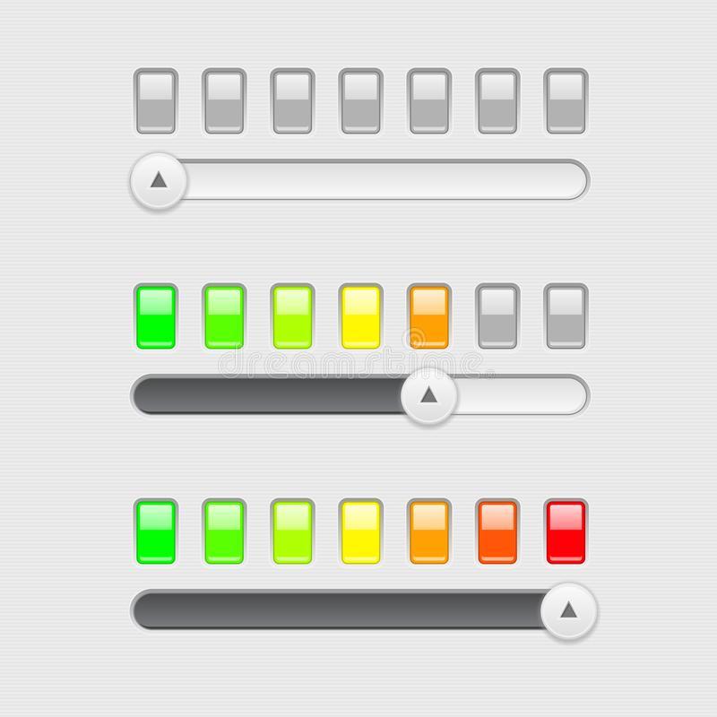 Slider bar. With colored level indication vector illustration