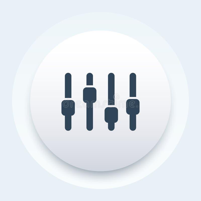 Slider bar icon. Eps 10 file, easy to edit royalty free illustration