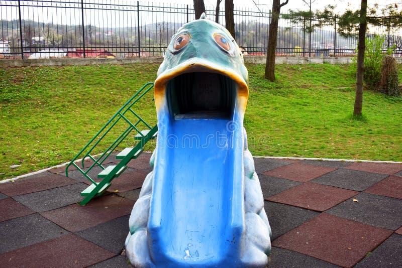 Slider colorido dos peixes no parque de Zavoi de Ramnicu Valcea imagens de stock