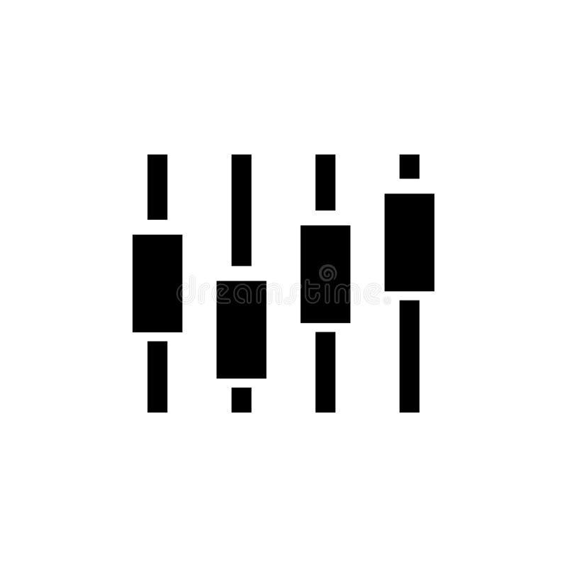 Slider de UI, ícone liso do vetor da música do ajuste ilustração royalty free