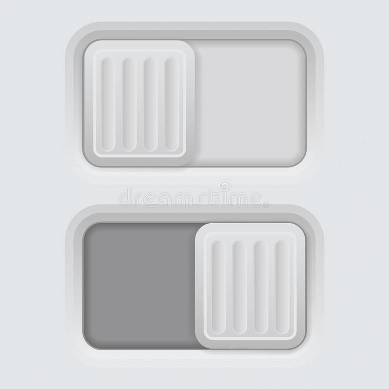 Slider gray 3d push buttons royalty free illustration