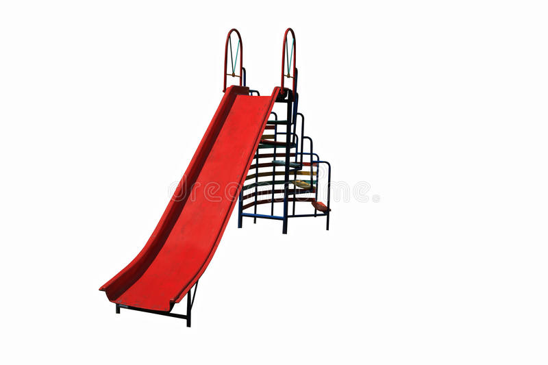 Slider playground for kid. Isolated on white background royalty free stock photos