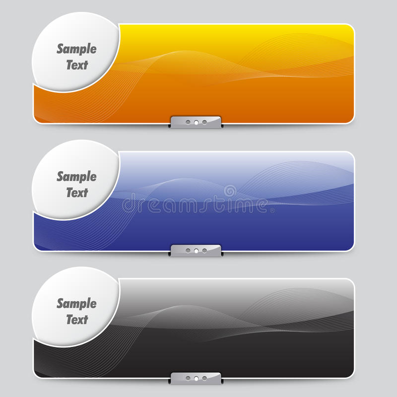 Download Sliders or Banners stock vector. Image of color, style - 22477890