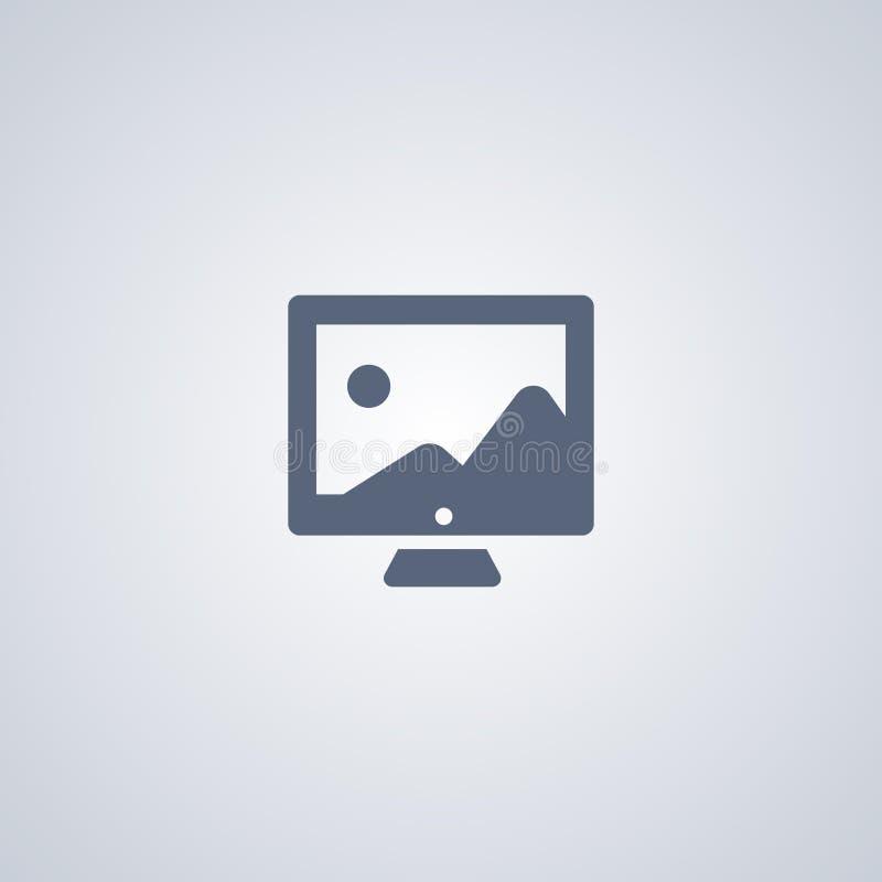 Slideshowpictogram, Beeldpictogram stock illustratie