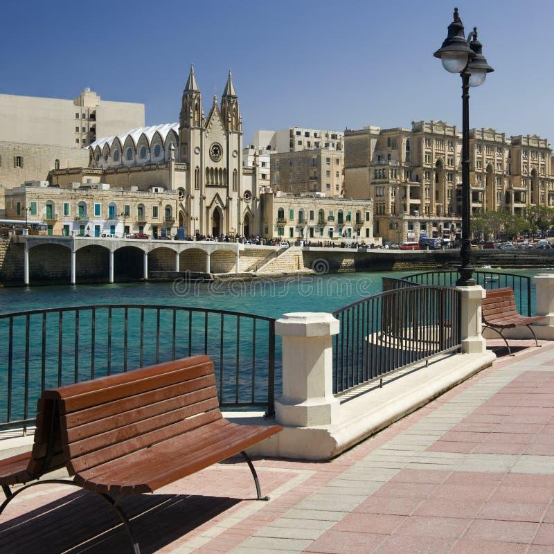 Sliema - Μάλτα στοκ εικόνα