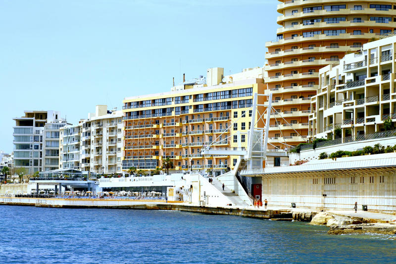 Sliema waterfront, Malta royalty free stock photo