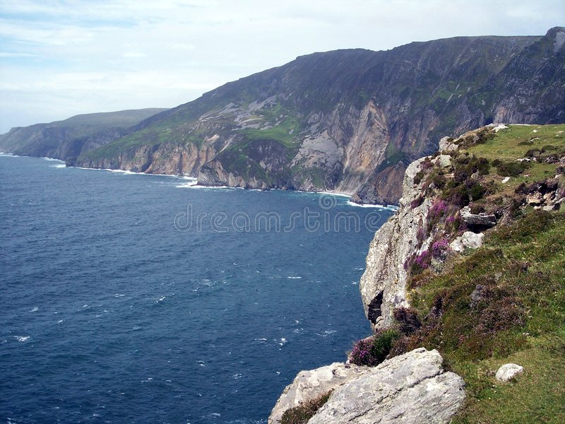 Slieve League, Bunglass Cliffs, Ireland. A view of Slieve League, Co. Donegal, Ireland stock image