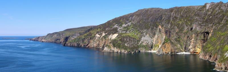 Slieve League cliffs panorama stock image