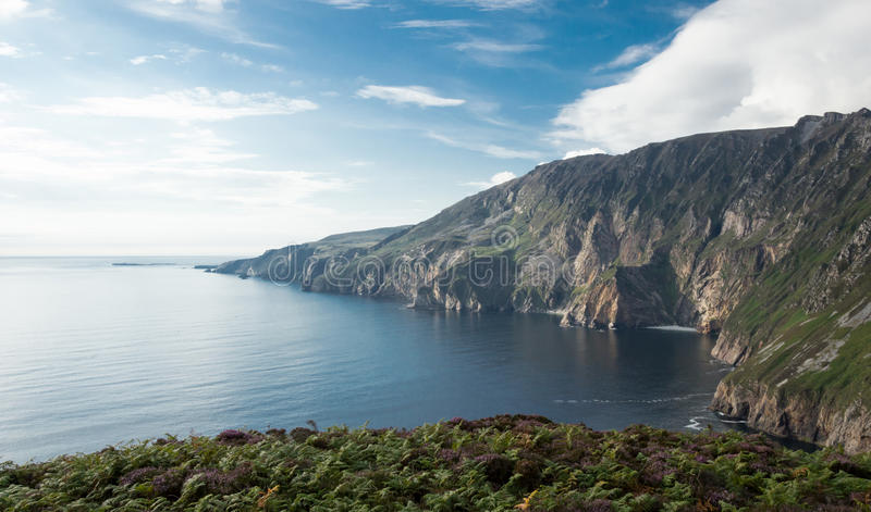 Slieve league, Ireland. View of the slieve league cliffs, the highest in europe. They are located in Connemara, Ireland stock photography