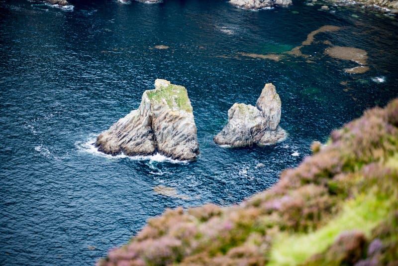 Slieve-Liga-Klippen, Grafschaft Donegal, Irland lizenzfreies stockfoto