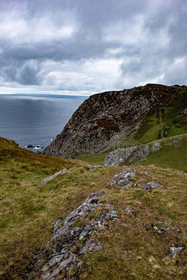 Slieve-Liga-Klippen, Grafschaft Donegal, Irland lizenzfreie stockfotografie