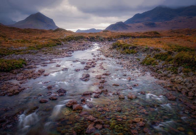 Sligachan, горы Cullin, Шотландия, u K стоковое изображение