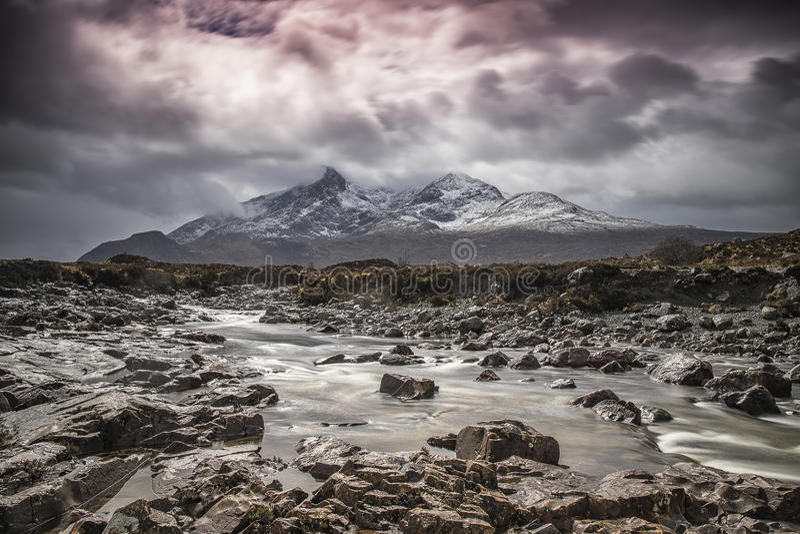 Sligachan, остров Skye, Шотландии стоковое фото rf