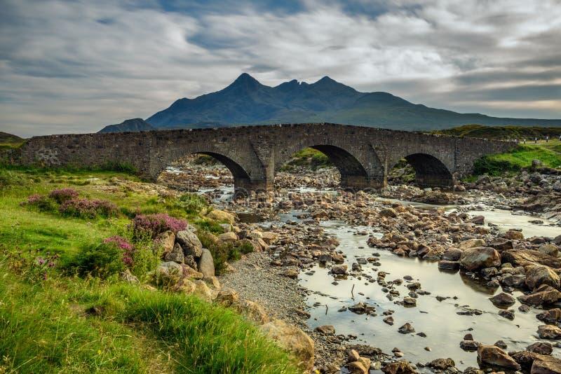 Sligachan bridge in Scotland stock images