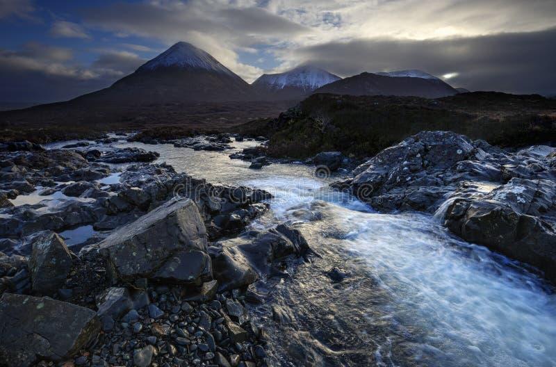 Sligachan, Escocia fotos de archivo