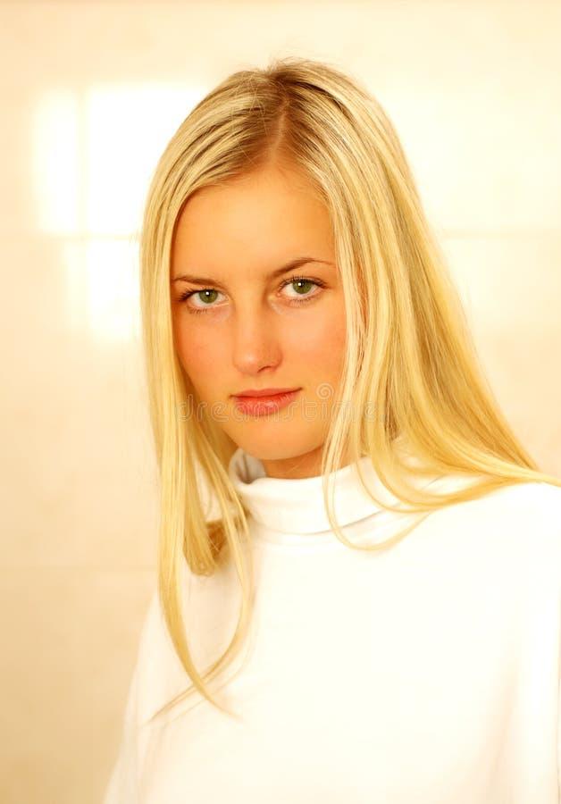 Download Slight Smile stock photo. Image of modelling, damsel, white - 458010